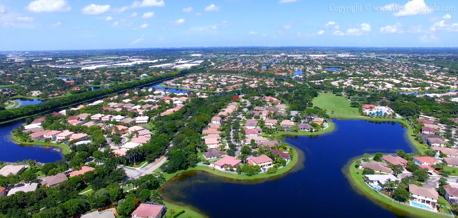 Weston Florida aerial view