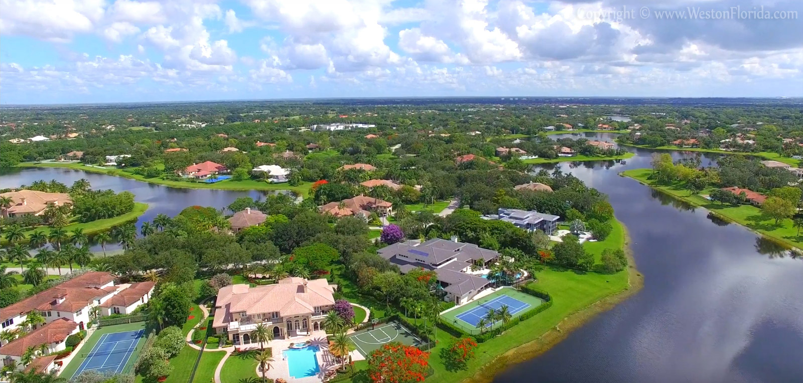 Weston Florida residential area